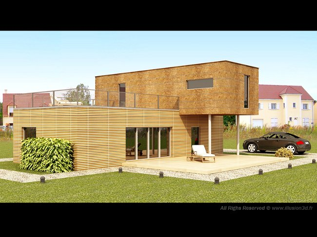 Architecture illusion 3d for Architecture exterieur maison